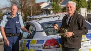 Police work with LandSAR using wander search equipment, to find a missing person. Photo Manawatu Alzheimers